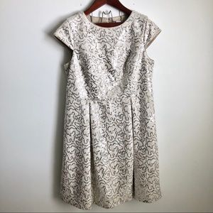 Calvin Klein Sequin Fit Flare Party Event Dress 14